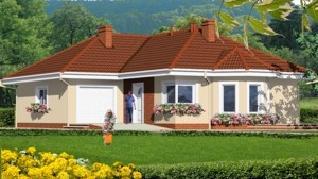 Проект  Дом в дикоросах 2, 124.8 м2