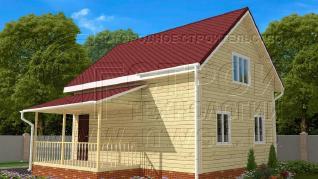 Проект дома Проект дома №92, 58 м2