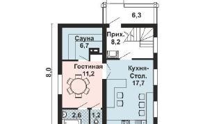 Проект дома AS-2252, 90 м2
