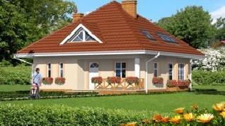 Проект  Дом в плюще, 127.9 м2