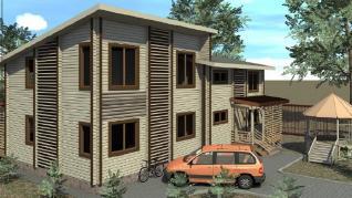 Проект  Дом с двумя квартирами, 115 м2