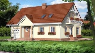 Проект  Дом под омелой 3, 159.4 м2