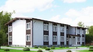 Проект  Дом на 10 квартир, 645 м2