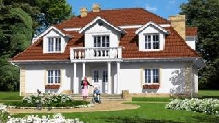 Проект  Дом в форсициях, 256.7 м2