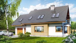 Проект  Дом в васильках (Н), 168.6 м2