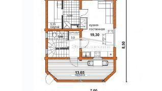 Проект дома Проект ДН-106, 82 м2