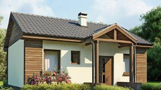 Проект дома Проект Z11, 50.7 м2