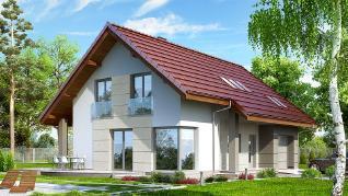 Проект  Дом в вистерии 2, 161.35 м2