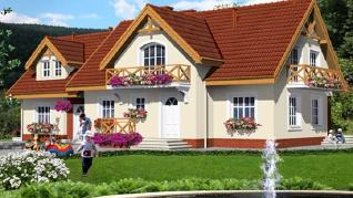 Проект  Пансионат у фонтана, 265.4 м2