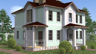Проект  Лира - дом из газобетона, 150 м2