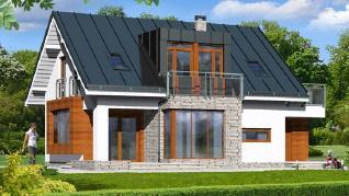 Проект  Дом в анемонах, 120.5 м2
