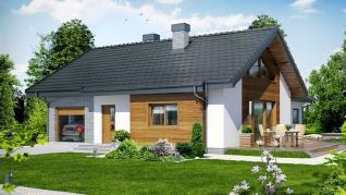 Проект  Дом в глоксинии, 158.3 м2