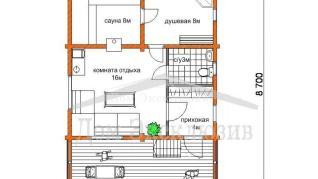 Проект дома Проект ДН-116, 91 м2