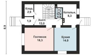 Проект дома AS-2170, 118 м2