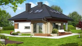 Проект  Дом в сирени (ПД), 127.1 м2