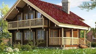 Проект  Двухэтажный деревянный дом, 160 м2