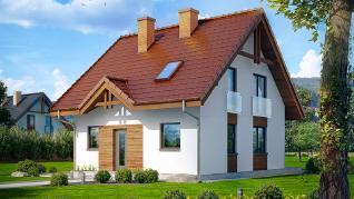 Проект  Дом в землянике, 95.2 м2