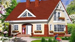 Проект  Дом в клеверках 2, 139.9 м2