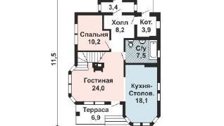 Проект дома AS-2172-2, 155 м2