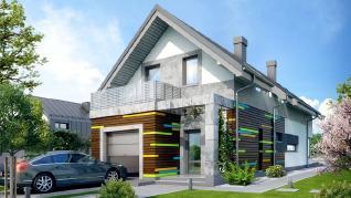 Проект  Дом под сурмией, 173.9 м2