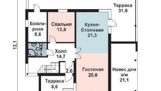 Проект дома AS-2134, 166 м2