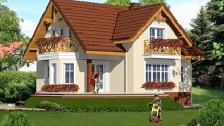 Проект  Дом в шафране 2, 135.9 м2