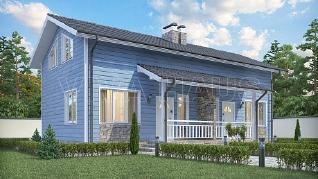 Проект  Дом на две семьи ДУПЛЕКС-170, 170 м2