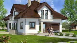 Проект  Дом в абелиях, 159 м2