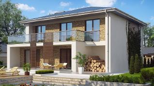 Проект дома Проект Zx55, 180.7 м2