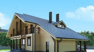 Проект  Стелла 2 - дом из профилированного бруса, 178 м2