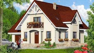 Проект  Дом в абрикосах 2, 174.7 м2