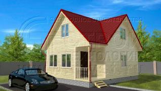 Проект дома Проект дома №38, 48 м2