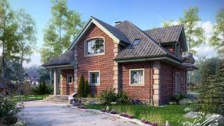 Проект дома Проект x2, 211.79 м2