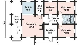 Проект дома AS-2144, 105 м2