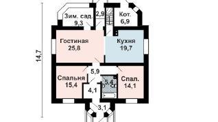 Проект дома AS-2259, 143 м2