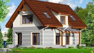 Проект  Дом в сабельнике, 111.8 м2