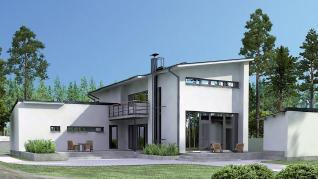 Проект дома Тийкеринсильмя, 269 м2