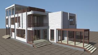 Проект  Трехэтажный дом с панорамным видом, 456 м2