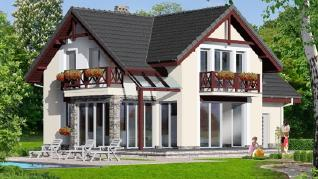 Проект  Дом а альпиниях 2, 149.8 м2