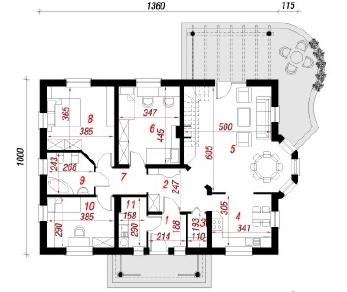 Проект  Дом под красной рябиной 3, 179.4 м2