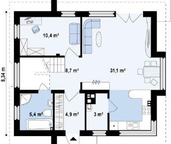 Проект дома Проект z245, 121.2 м2