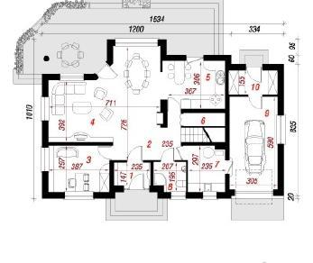 Проект  Дом под вейгелой, 183.3 м2