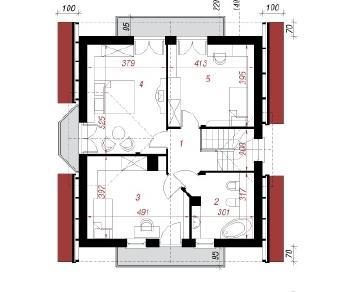 Проект  Дом в рододендронах 5 (В), 126 м2