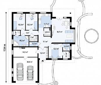 Проект дома Проект Z207, 176.2 м2