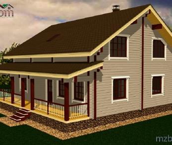 Проект дома Проект дома из клееного бруса «Росток», 216.14 м2