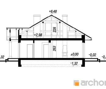 Проект  Дом под красной рябиной, 111.6 м2