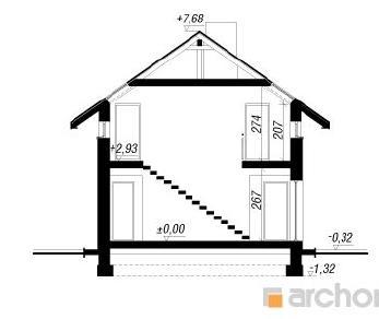 Проект   Дом в асарине, 134.9 м2