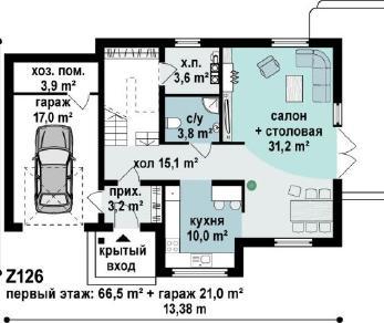 Проект дома Проект z126, 168.3 м2