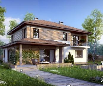 Проект дома Проект x4, 247.27 м2