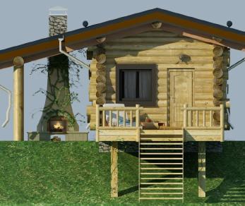 Проект  Проект бани 027/184 , 27 м2